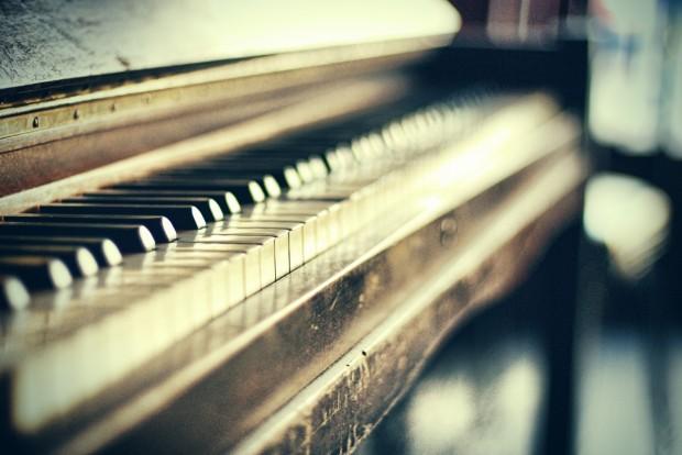 vintage piano